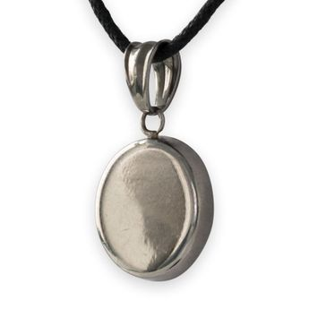 Round Stainless Steel Pendant with Shiva Eye – picture 4