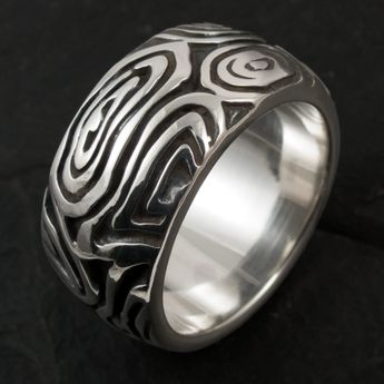 Sterling Silver Band Ring - Tribal Maori