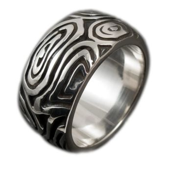 Sterling Silver Band Ring - Tribal Maori – picture 1