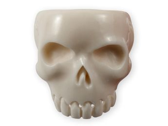 Horn or Bone Classic Skull Ring – picture 2