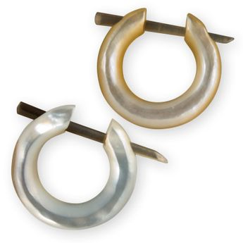 Shimmering Mother of Pearl Ear Cuffs – picture 4