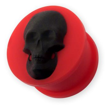 "Silicone Plug ""Skull"" in different Colors – picture 3"