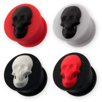 "Silicone Plug ""Skull"" in different Colors – picture 1"