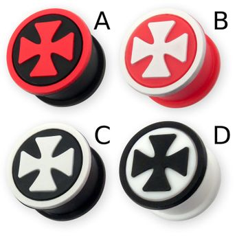 "Silicon Ear Plug ""Iron Cross"" in different Colors – picture 2"