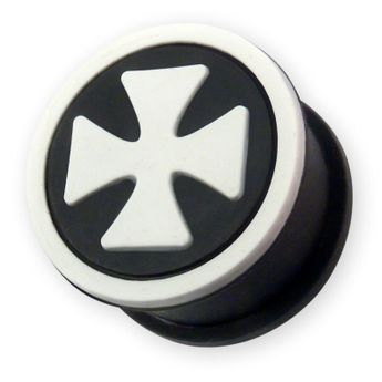 "Silicon Ear Plug ""Iron Cross"" in different Colors – picture 5"