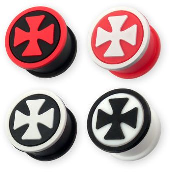 Silicone ear plug Iron Cross in different colors – picture 2
