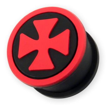 Silicone ear plug Iron Cross in different colors – picture 4