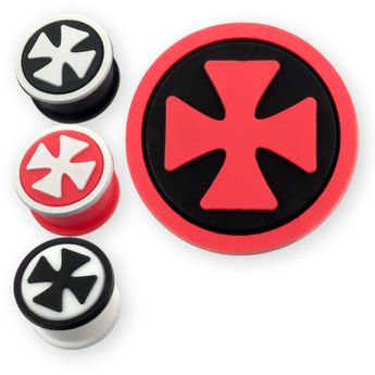 Silicone ear plug Iron Cross in different colors – picture 1