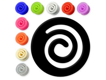 "Silicone Flesh Tunnel ""Spiral"" in different Colors and sizes – picture 1"