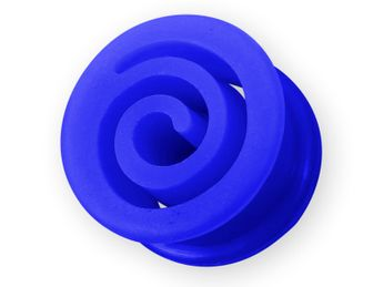"Silicone Flesh Tunnel ""Spiral"" in different Colors and sizes – picture 3"