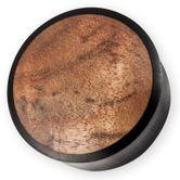 Ebenholz Plug mit Golden Madrone Wurzelholz Inlay 16 - 30 mm
