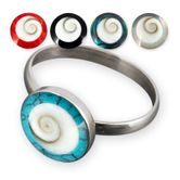 Damen Ring Shiva Auge (Stein-Farbauswahl) Silber 925