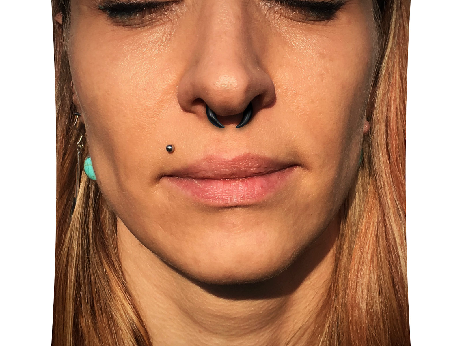 Septum Nose Or Ear Claw Crescent Pincher From Buffalo Horn Ceres