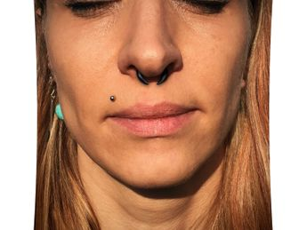 Septum Nose or Ear Claw Crescent Pincher from Buffalo Horn – picture 4