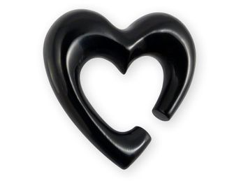 Heart Shaped Piercing Spiral Stretcher from Horn or Bone – picture 2