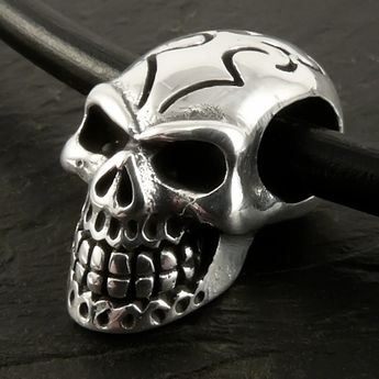 Stainless Steel Pendant - Tattoo Tribal Death's Head – picture 2