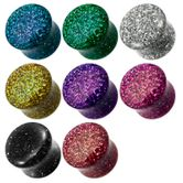 Glitzer Fleshplug aus Acryl Bunte Farbwahl