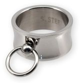 SM Ring of O Stainless Steel - wide & concave - highly polished with removable slave ring