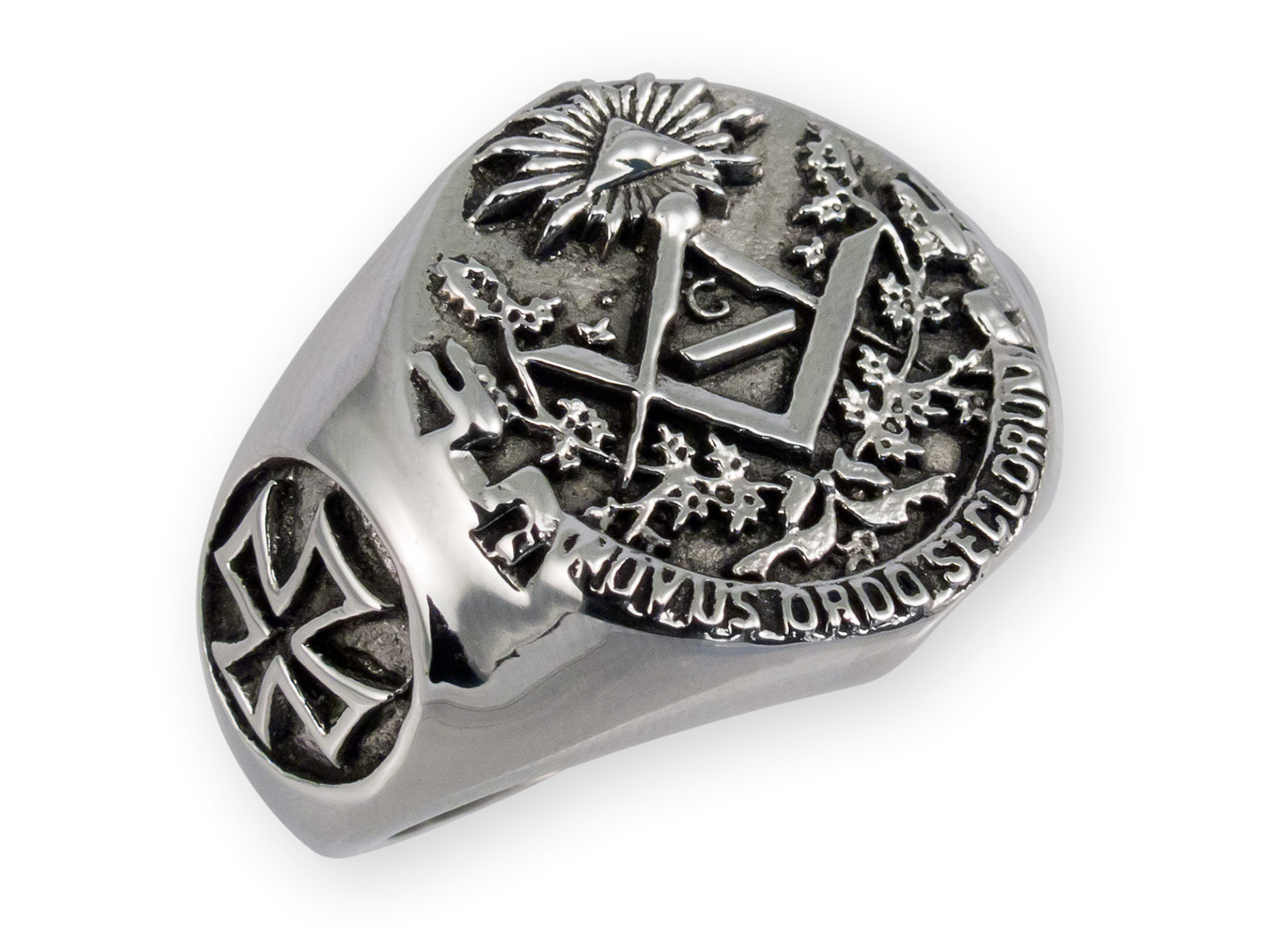 Masonic / Illuminati Signet Stainless Steel Ring