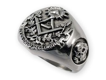 Masonic / Illuminati Signet Stainless Steel Ring – picture 2