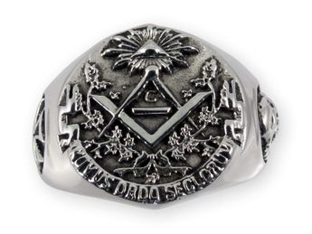 Anillo Acero inoxidable Sello Masónico / Illuminati – picture 3