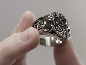 Anillo Acero inoxidable Sello Masónico / Illuminati – picture 5