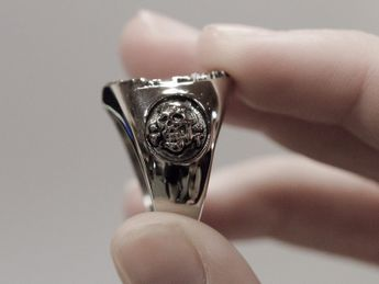 Masonic / Illuminati Signet Stainless Steel Ring – picture 6