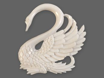 Filigree Swan Spiral Stretcher from Horn or Bone – picture 4