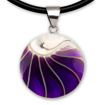 Noble Stainless Steel Pendant with Nautilus Shell in 9 different Colors – picture 8