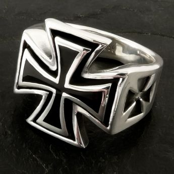 Iron Cross Men's Ring Iron Cross Jewelry – picture 2