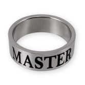 Stainless Steel Ring - MASTER / SLAVE or MISTRESS with BDSM Triskel