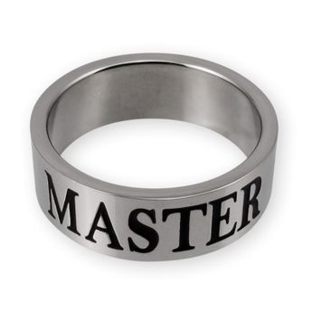 Stainless Steel Ring - MASTER, SLAVE or MISTRESS with BDSM Triskel – picture 2