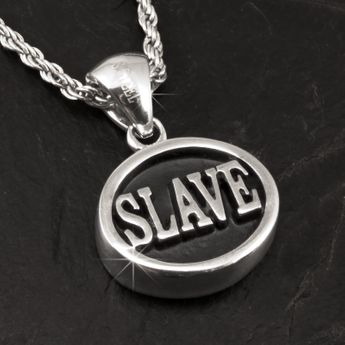 Stainless Steel Signet Pendant - Slave / Bottom – picture 2