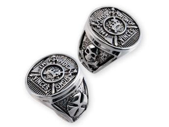 Anillo Templario Masón Rito de York Acero Inoxidable 316L In Hoc Signo Vinces – picture 3
