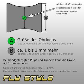 Ebenholz Plug mit versteinertem Farnholz Inlay  – Bild 3