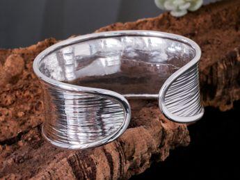 925 Silver Handmade Bangle Karen Hill Tribe – picture 3