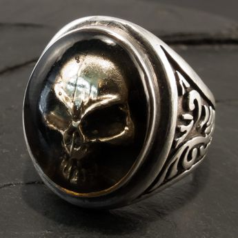 Silver Skull Ring - Ghost Skull – picture 2