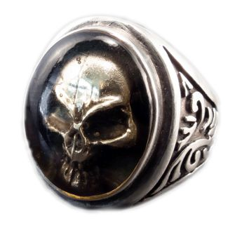 Silver Skull Ring - Ghost Skull – picture 1