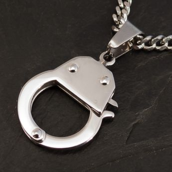 Stainless Steel Pendant - Handcuffs - from 316L surgical steel – picture 3