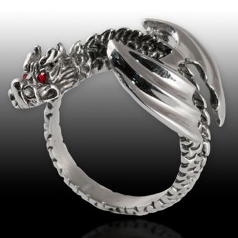 Stainless Steel Ring - Winged Dragon – picture 4