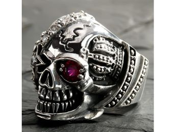 Stainless Steel Skull Ring | One-eyed pirate – picture 4