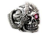 Totenkopf Ring aus Edelstahl | Design Einäugiger Pirat