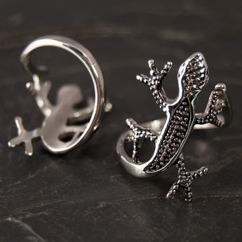 "Stainless Steel Ring ""Gecko"" – picture 3"