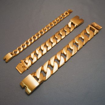 Curb Chain Bracelet in different lengths and widths – picture 9
