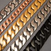 Curb Chain Bracelet in different lengths and widths
