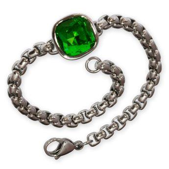 Damen Armband mit Zirkonia grün (18 - 21 cm) – Bild 1
