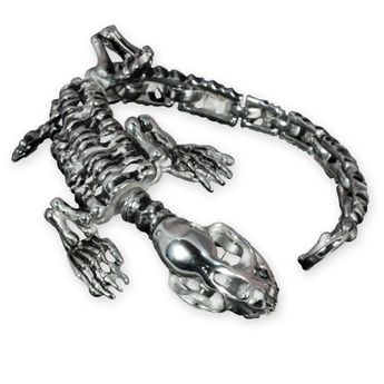 316L Stainless Steel Skeleton Bracelet (20 - 23 cm) – picture 1