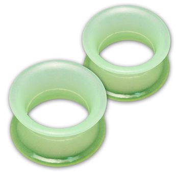 1 pair! Extra soft silicone flesh tunnel with narrow edge - 4 to 30mm - 10 colors – picture 7