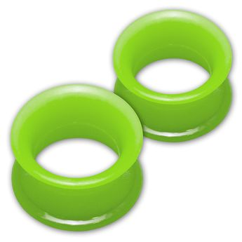 1 pair! Extra soft silicone flesh tunnel with narrow edge - 4 to 30mm - 10 colors – picture 10
