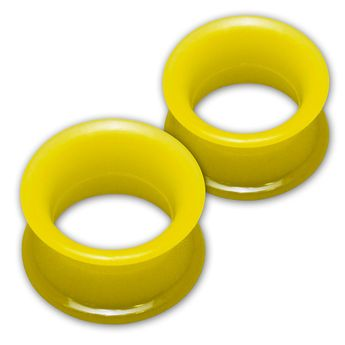 1 pair! Extra soft silicone flesh tunnel with narrow edge - 4 to 30 mm - 10 colors – picture 10
